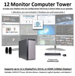SUPER PC | Twelve Monitor Workstation | 7th Gen Intel Core i7 Eight Core CPU