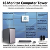 SUPER PC | 16 Monitor Workstation | 4th Gen Intel Core i7 Quadcore CPU