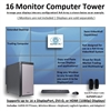 SUPER PC | 16 Monitor Workstation | 5th Gen Intel Core i7 Six Core CPU