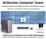 SUPER PC | 18 Monitor Workstation | 5th Gen Intel Core i7 Six Core CPU