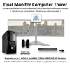 SUPER PC | Dual Display Micro-Tower | 7th Gen Intel Core i7 Quadcore CPU