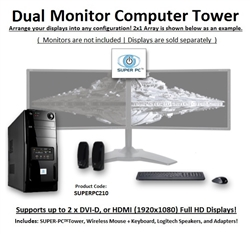 SUPER PC | Dual Display Mid-Tower | 5th Gen Intel Core i7 Six-Core CPU