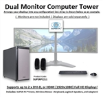 SUPER PC | Dual Display Workstation | New Gen Intel Core i7 Six-Core CPU