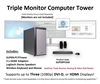 SUPER PC | Triple Monitor Workstation | 7th Gen Intel Core i5 Quadcore CPU