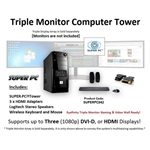 SUPER PC | Triple Monitor Mid-Tower | 7th Gen Intel Core i7 Eight Core CPU