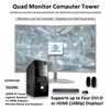 SUPER PC | Quad Monitor Micro-Tower | 7th Gen Intel Core i5 Quadcore CPU