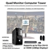 SUPER PC | Quad Monitor Micro-Tower | 7th Gen Intel Core i7 Quadcore CPU