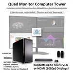 SUPER PC | Quad Monitor Workstation | 5th Gen Intel Core i7 Six Core CPU