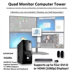 SUPER PC | Quad Monitor Mid-Tower | 7th Gen Intel Core i7 Eight Core CPU