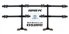 SUPER PC | 8 Monitor Desk Stand | 4x2 Array Mount | Supports 24-27 inch Displays