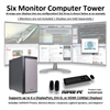 SUPER PC | Six Monitor Workstation | 5th Gen Intel Core i7 Six Core CPU