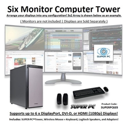 Super Pc Six Monitor Workstation 5th Gen Intel Core I7