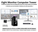 SUPER PC | Eight Monitor Mid-Tower | 5th Gen Intel Core i7 Six Core CPU