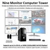 SUPER PC | Nine Monitor Micro-Tower | 7th Gen Intel Core i7 Quadcore CPU