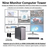 SUPER PC | Nine Monitor Workstation | 7th Gen Intel Core i7 Quadcore CPU