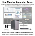 SUPER PC | Nine Display Workstation | 5th Gen Intel Core i7 Six Core CPU