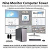 SUPER PC | Nine Monitor Workstation | 7th Gen Intel Core i7 Eight Core CPU
