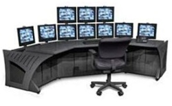 Sight Line Cornor Console (Mounting for 10 Monitors) W5722